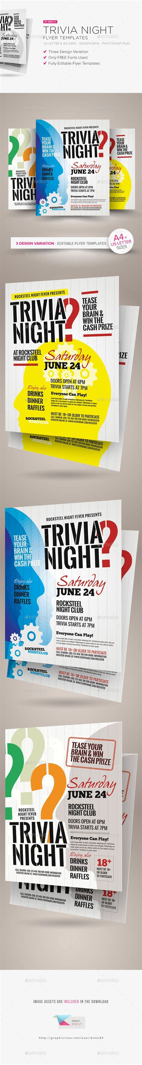 trivia flyer template free trivia and flyers on