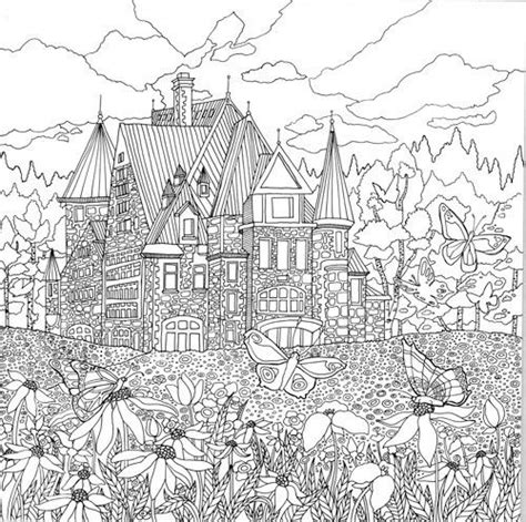 detailed landscape coloring pages for adults detailed landscape coloring pages for adults part 7