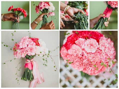 bouquet diy diy carnation bouquet big wedding tiny budgetbig wedding
