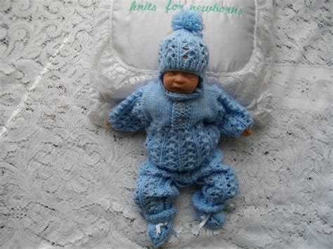 micro preemie knitting patterns 42 micro preemie boys romper suit set knitting pattern by