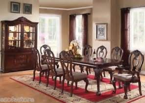 gwyneth iii traditional formal cherry finish dining table