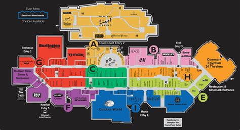 opry mills map complete list of stores located at arundel mills 174 a shopping center in hanover md a simon mall