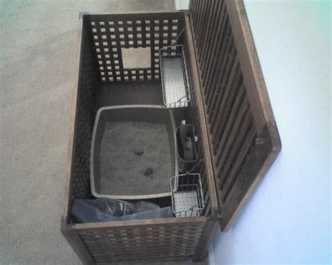 bench litter box litter box hiding bench crazy cat lady pinterest