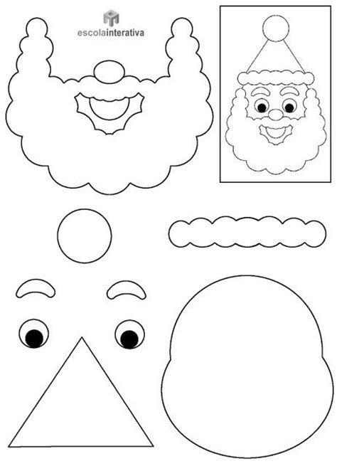 printable santa face template 253 best t 233 li k 233 zműves 233 s dekor 225 ci 243 s 246 tletek images on