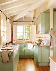 Kitchen cabinet color ideas for small kitchens in mint green paint