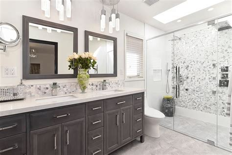 Grey Bathroom Fixtures Best Bathroom Fixtures Transitional With White Countertop Glass Shade