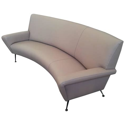 curved leather sofa gigi radice italian leather curved sofa italy circa