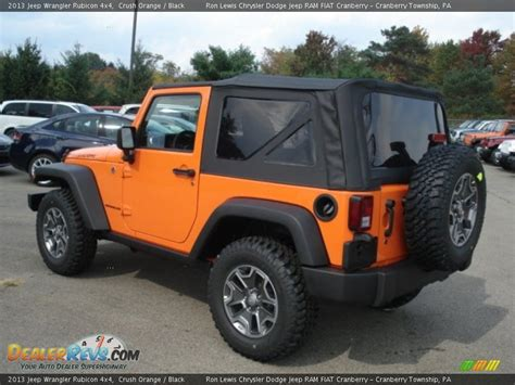 orange jeep rubicon 2013 jeep wrangler rubicon 4x4 crush orange black photo