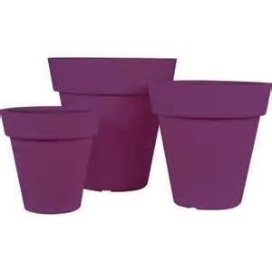 plastic planters home depot pride garden products mela purple plastic planters