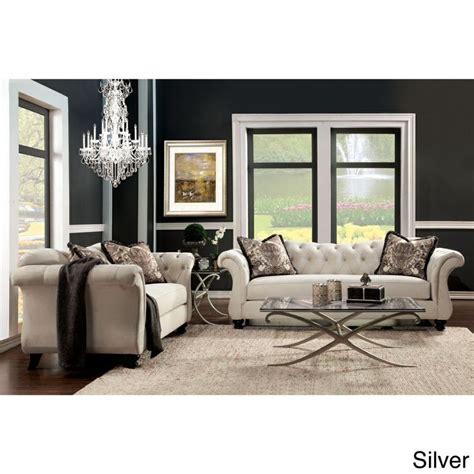 tufted sofa and loveseat set furniture of america agatha 2 tufted sofa and