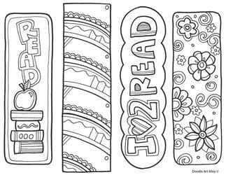 world book day bookmark template bookmark coloring classroom doodles