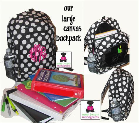 Custom Initial Name Serenity Bag Pink 6 monogrammed book bags svvm bags