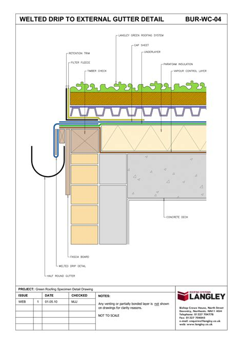 green roof section detail detail drawings environmental considerations langley