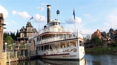 disneyland paris boat ride disneyland paris riverboat molly brown full ride 2017