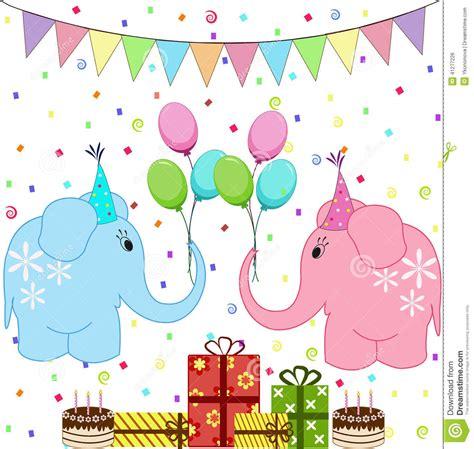 imagenes de happy birthday late 被设置的生日聚会大象 向量例证 图片 41277226