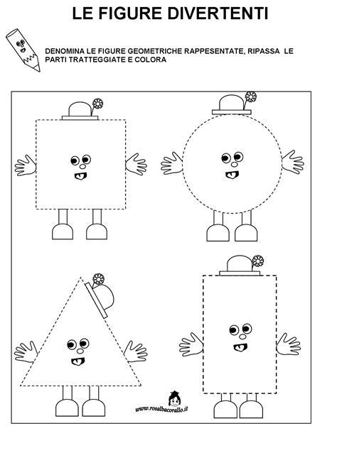 il triangolo no testo schede didattiche figure geometriche per bambini di 4 5