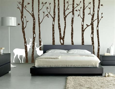 Mirror Murals Walls birch tree winter forest vinyl wall decal