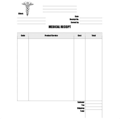 doctor receipt template 21 free word pdf documents