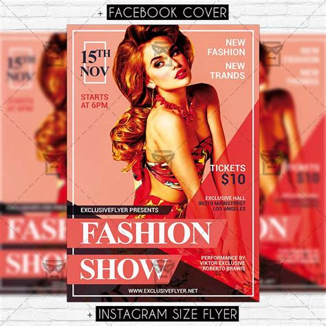 templates for fashion show flyers fashion show premium psd flyer template exclsiveflyer
