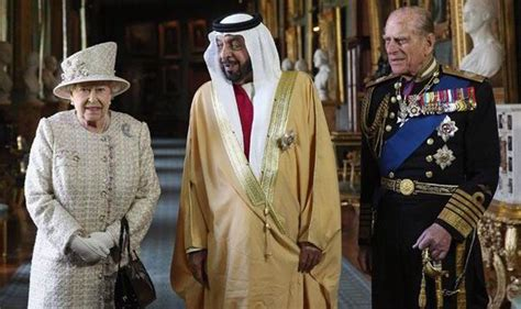 emirates queen the queen greets the president of the united arab emirates