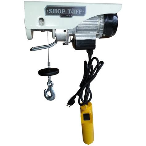 Electric Hoist Garage by Shop Tuff 220 440 Lb Electric Hoist 648703 Garage
