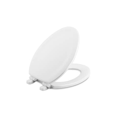 kohler elongated closed front toilet seat quiet soft cover