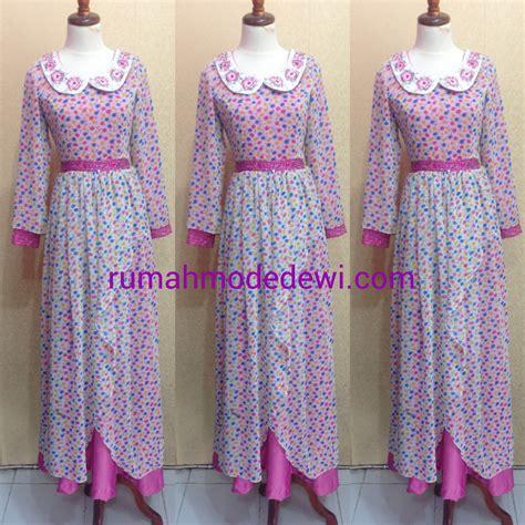 Dress Bunga Polkadot by Dress Gamis Polkadot Pink