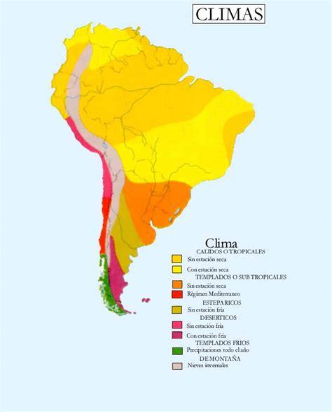 america mapa de climas clima de america