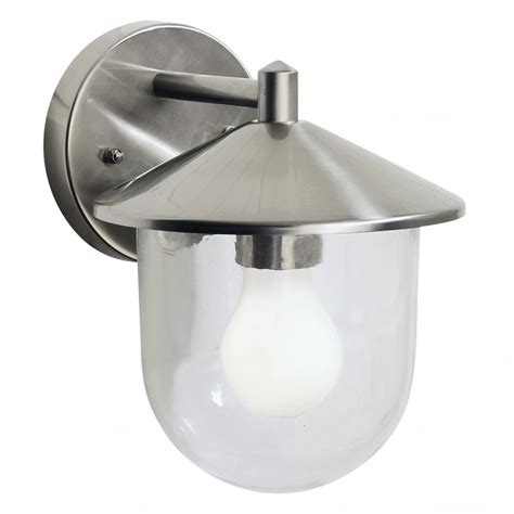 dar lighting poole poo1544 outdoor wall light in steel at