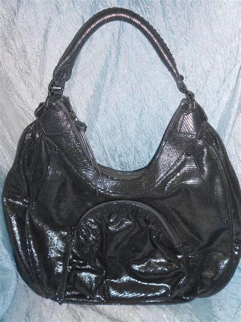 Botkier Medium Patent Leather Handbag by Fabulous Botkier Hobo Bag Purse Metallic Silver Gray