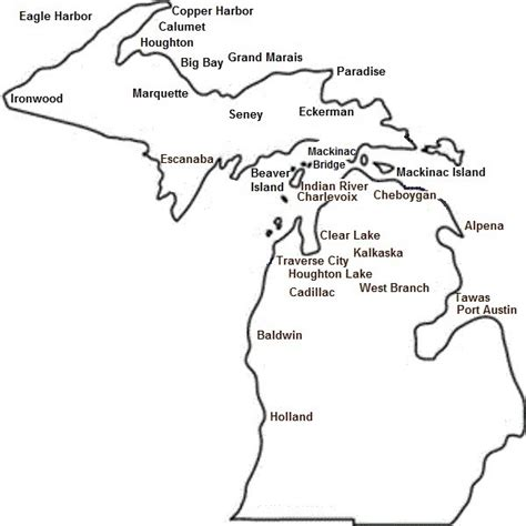 State Of Michigan Search Michigan Map Outline Afputra