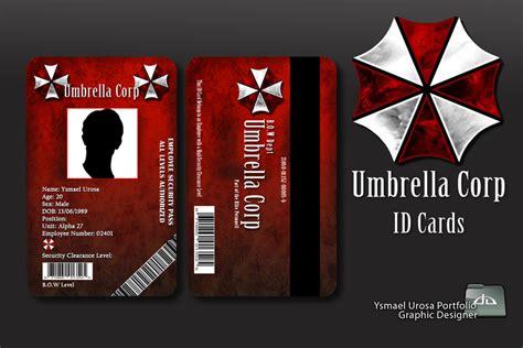 id card design wallpaper umbrella corp id cards by pandoradisenos on deviantart