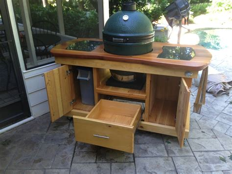 big green egg table plans big green egg table plans with doors 187 woodworktips