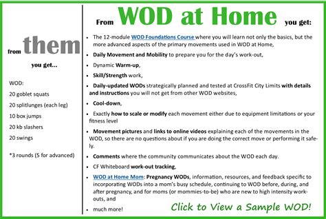 subscribe wod at home