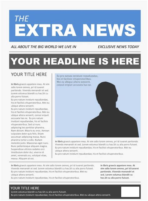 Collection Of Newspaper Project Template Best Business Template 14