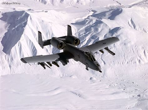 Aircraft / Planes: A10 Over Snowy Mountains, picture nr. 25909 A 10 Warthog Pictures 1280 X 1024