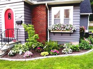 Pictures Of Flower Gardens In Front Of House Front Yard Ideas The Landscape Simple Landscaping For Around House Home Design Flower Beds