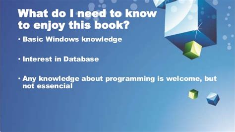 What Prerequisites Do I Need For Mba by Promotional Presentation On New Book Quot Mariadb Beginners