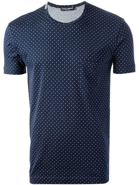 Blue Collor Dot Shirt dolce gabbana polka dot tshirt in blue for lyst