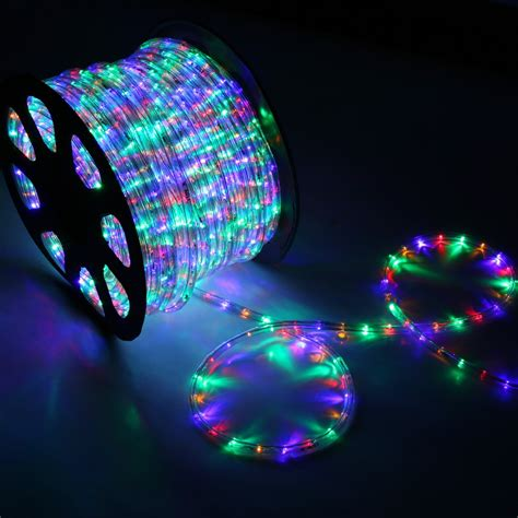 outdoor led rope lights 150 rgb multi color led rope light home outdoor