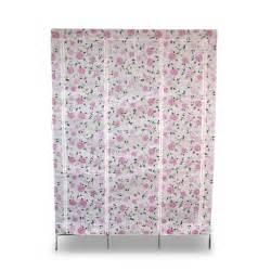 metal frame fabric canvas wardrobe home furniture