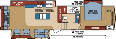 durango 5th wheel floor plans 2016 durango gold fulltime luxury fifth wheel floorplans photos k z rv