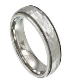 mens hammered wedding bands s stainless steel wedding band artisan hammered finish 7mm