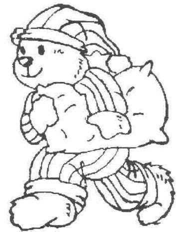 teddy bear in pajamas coloring page pajama night clipart collection clipartpost gclipart com