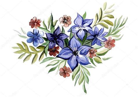 imagenes de flores azules brillantes hermosas flores azules brillantes con hojas foto de