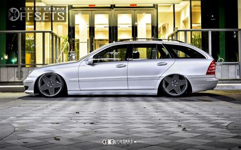 bagged mercedes c wheel offset 2005 mercedes benz c class tucked bagged