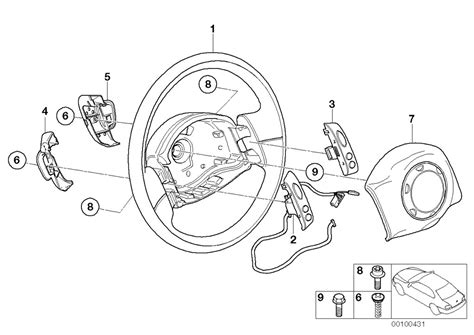 steering wheel parts diagram mini r53 coupe cooper s usa steering steering wheel airbag