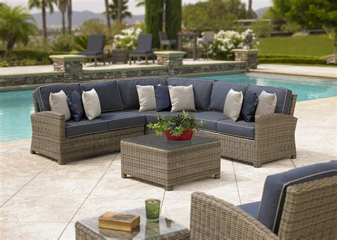 outdoor patio furniture sectionals silver coast bainbridge 4 piece custom outdoor willow
