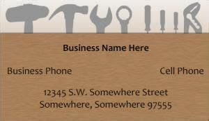 handyman business card template handyman business card sles free business cards card