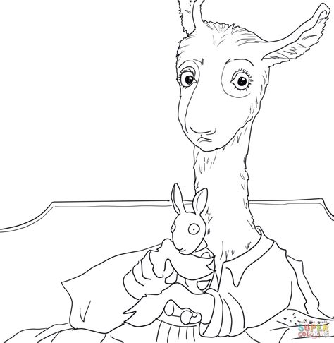 libro llama llama red pajama llama llama red pajama coloring page printable pages